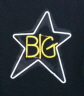 Big Star Neon Logo T-Shirt - Large T-Shirts  Professionally printed, 100% Cotton gildan, heavy weight, high quality black t-shirt.