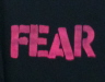 FEAR Logo T-Shirt - Large T-Shirts  Professionally printed, 100% Cotton gildan, heavy weight, high quality black t-shirt.